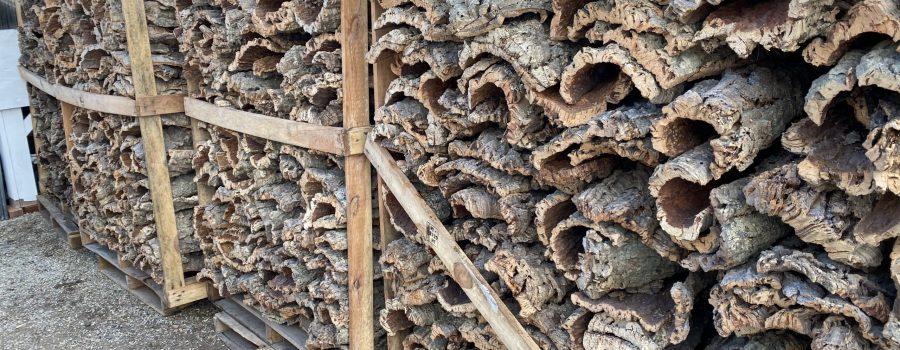 Virgin cork bark flats